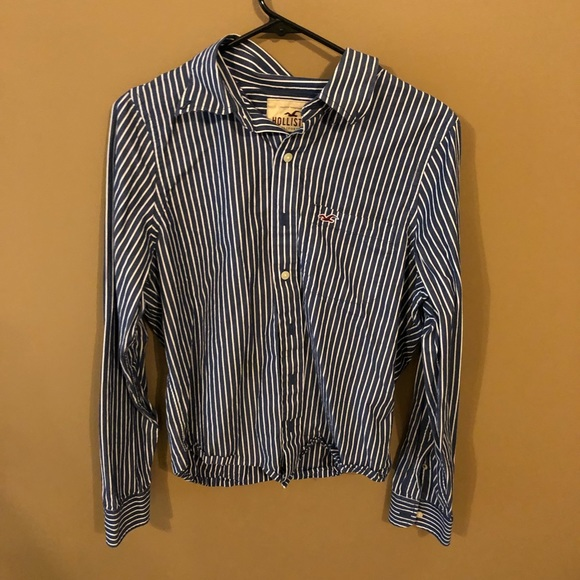 Hollister Tops - Blue and White Hollister Button Down
